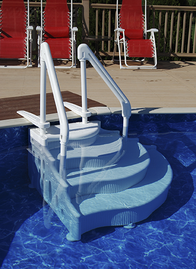 above ground pool step - Above Ground Pool Steps For Decks